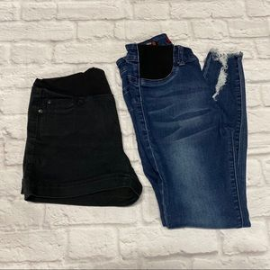 2pc Maternity bundle, shorts and pants S size